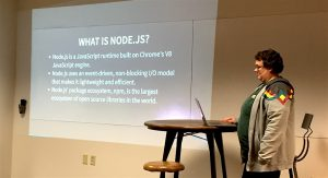 Michelle presents NODE.JS.