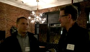 Jacek Zagorski, owner of Shasta Networks, chats with Rick Hood.