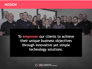 CORE's Mission Statement.