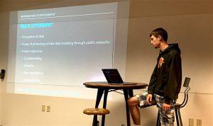 Daniel presents Cryptography.