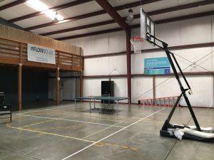 Half-court Basketball.