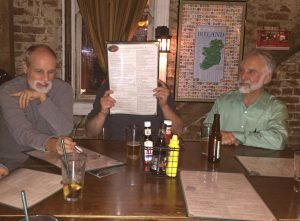 Mike, Gunnar (behind the menu), Gordon.