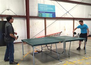 Ping Pong action.