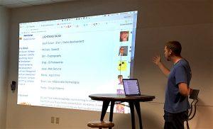 Sean presents the list of presentations.