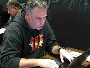 Doug, Traver; focusing.