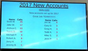 New Accounts Tote Display.