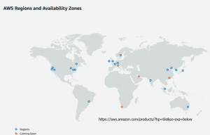 AWS Regions and Availability Zones.